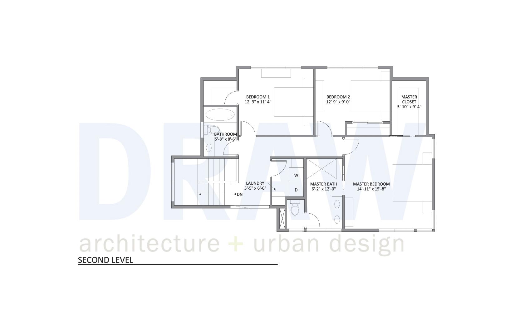 House plan 2 second level floor plans for Floor plans kansas city