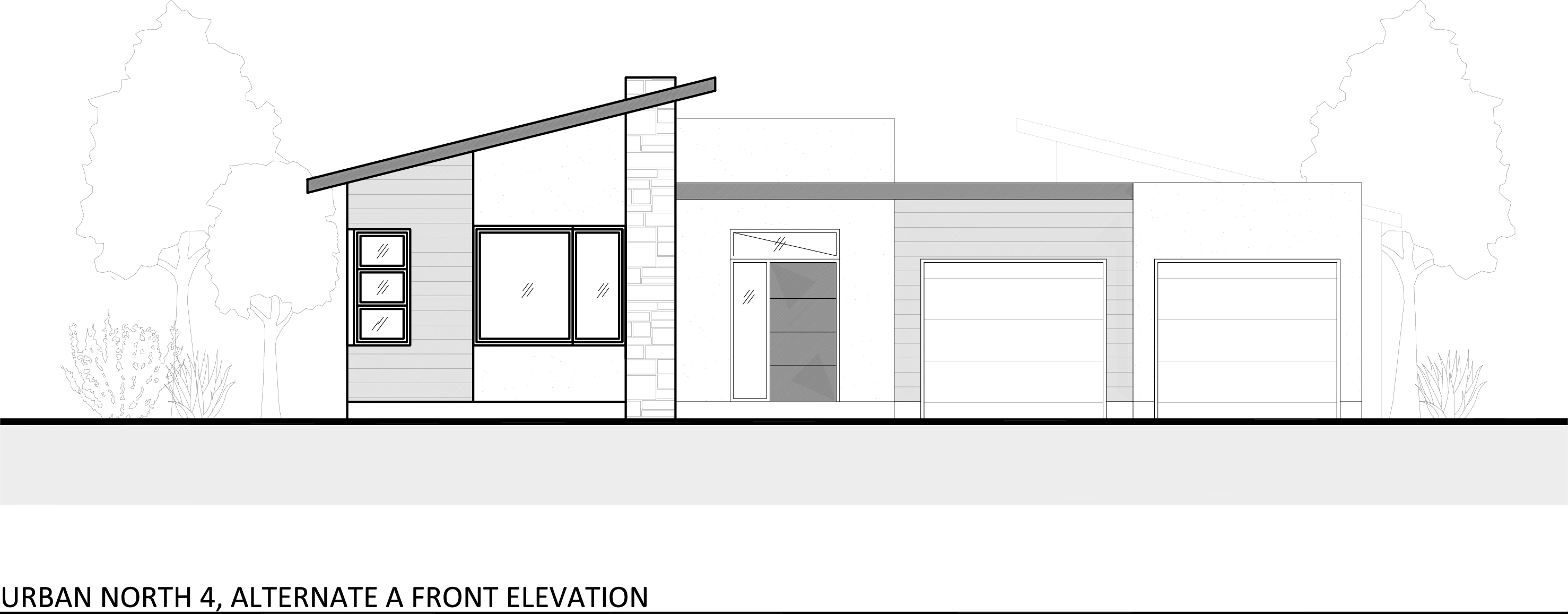 Elevation Plan Profile : House plan urban north kcmo s new modern subdivision