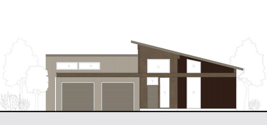 Alternate elevation for house plan 4