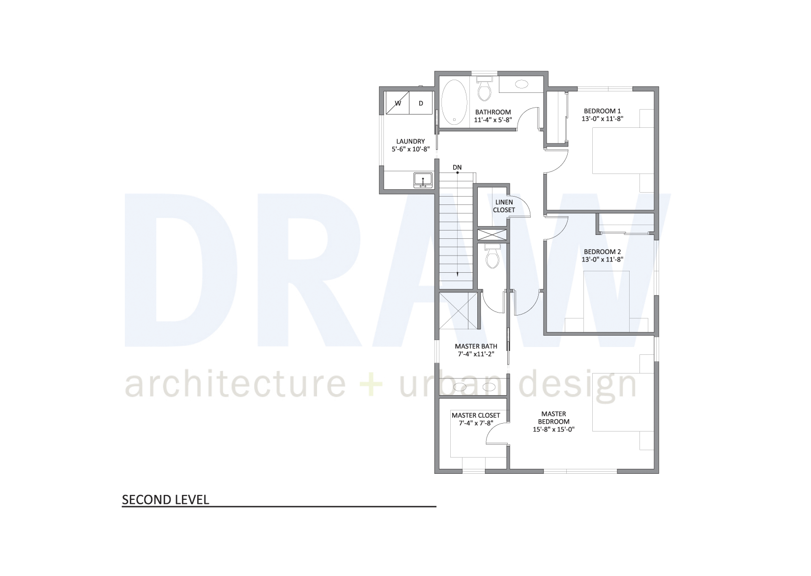 Urban North - House Plan 1 second level floor plan