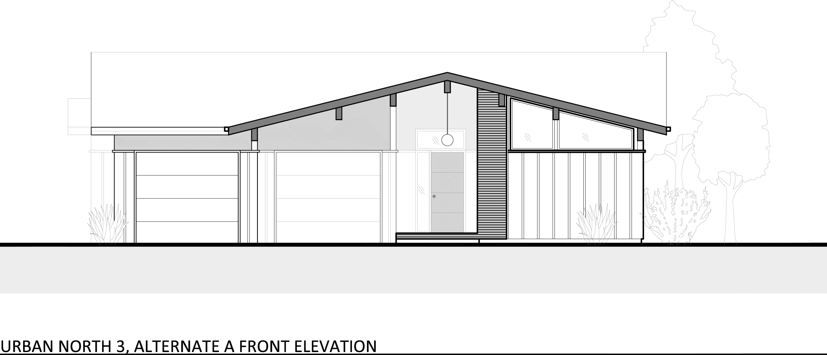 Urban North - House Plan 3 Alternate Elevation A